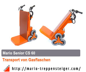 gasflaschen mit mario elektrischer treppenkarren transportieren. Black Bedroom Furniture Sets. Home Design Ideas